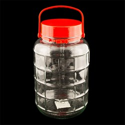 Glass Jar Grid Pattern 5L 31cm x 18cm Dia
