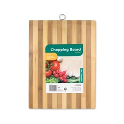 Chopping Board Bamboo Striped 30x20x1.75cm