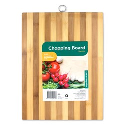 Chopping Board Bamboo Striped 40x30x1.75cm