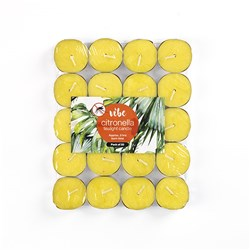 Tealights Citronella Yellow 3 Hour Pk20