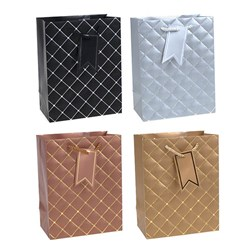 Gift Bag 210gsm ELEGANT Embossed Foil w Jhook Medium