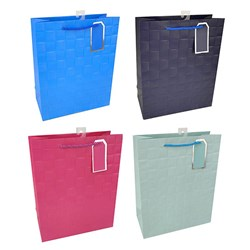Gift Bag 210gsm SOLID COLS Embossed w Jhook Large
