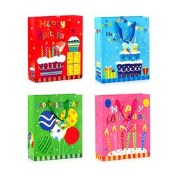 Gift Bag 210gsm HAPPY BIRTHDAY Glitter w Jhook Large