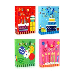 Gift Bag 210gsm HAPPY BIRTHDAY Glitter w Jhook XLarge