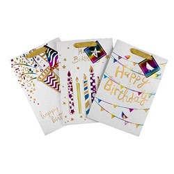 Gift Bag 190gsm HAPPY BIRTHDAY Rainbow Foil w Jhook Large