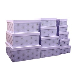 Gift Box Set 12 Rect Presents White Background