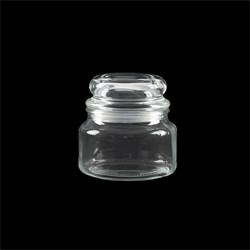 Glass Jar Multipurpose w Dome Glass Lid 350ml 10x10.5cm