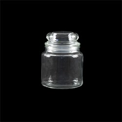 Glass Jar Multipurpose w Dome Glass Lid 550ml 10x13cm