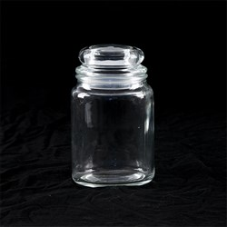Glass Jar Multipurpose w Dome Glass Lid 750ml 10x17cm