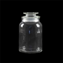 Glass Jar Multipurpose w Flat Top Glass Lid 1200ml 10.5x19m
