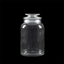 Glass Jar Multipurpose w Flat Top Glass Lid 1500ml 12x21cm