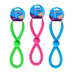 Dog Toy Figure 8 Tug N Pull 3 Asstd Cols