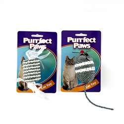 Cat Toy Rope 2 Asstd Mouse & Barrel