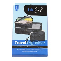 Travel Bag Organiser Set 3 Includes Toiletry Bag
