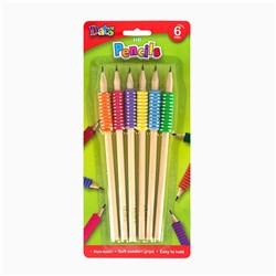 Pencil HB 6pk w Soft Comfort Grip