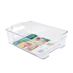 Organiser Pantry Bin PS Clear Medium 21x31.3x8.8cm