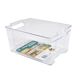 Pantry Organiser Bin PS Clear Large 21.5x31.5x14.5cm