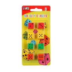 Eraser Dice Shaped 8pk