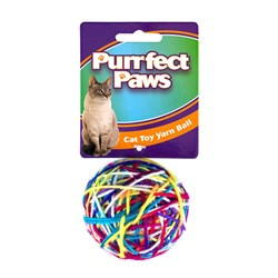Cat Toy Colourful Yarn Ball Small