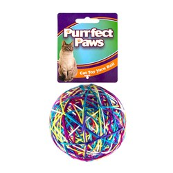 Cat Toy Colourful Yarn Ball Large