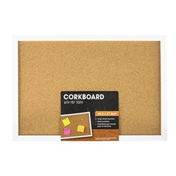 Corkboard White MDF Frame 405x278mm