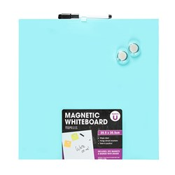 Whiteboard Magnetic Frameless 355x355mm w Accessories