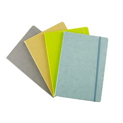 Address Book PU Cover 4 Asstd Cols A4 w Elastic