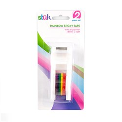 Dispenser w Tape Rainbow 18mm x 10M
