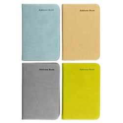 Address Book PU Cover Pocket Asorted Colours