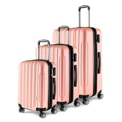 Luggage Set 3 ABS - Expandable 4 Wheels 48 / 58 / 68cm Peach