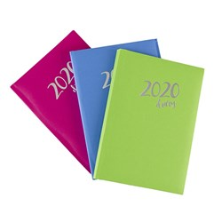 Diary A5 DTP Case Bound Padded Asstd Colours