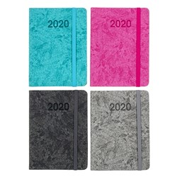Diary A6 WTO Fashion PU Cover W/Elastic Asstd Colours