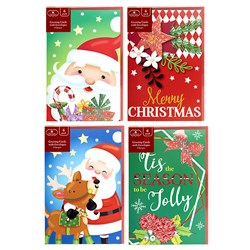 Cards Xmas Box 6 120x180mm Emboss Clear Foil