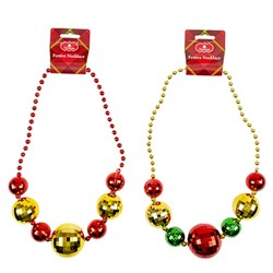 Necklace Novelty Xmas Bauble 2 Asstd