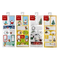 Gift Labels Xmas Self Ad w Foil 36pk