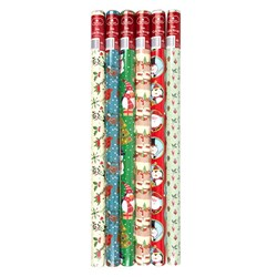 Wrap Paper Xmas 3Mx70cm 60gsm 38mm Core PDQ Asstd