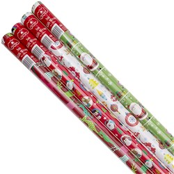 Wrap Paper Xmas 3Mx99cm 60gsm 38mm Core PDQ Asstd