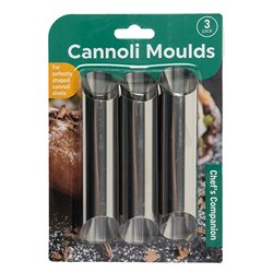Cannoli Tubes Stainless Steel Pk3