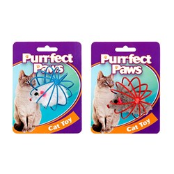 Cat Toy Mouse in Round Cage 5cm 2 Asstd