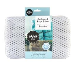 Bath Pillow Cushioned White 28x31.5cm