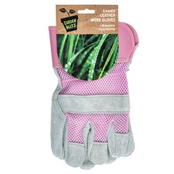 Gloves Ladies Leather Work 1pk