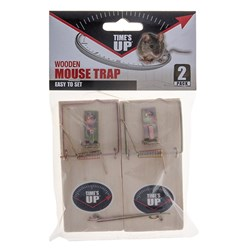 Wooden Mouse Trap Twin Pack