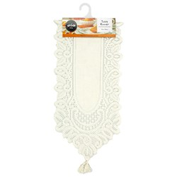 Table Runner Lace Cream 32x138cm