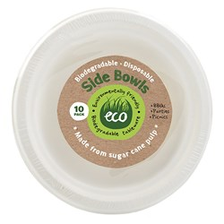 Eco Friendly Bowl 18cm White Pk10