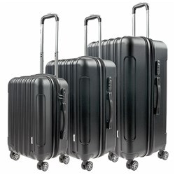 Luggage Set 3 ABS - Expandable 4 Wheels 48 / 58 / 68cm Black