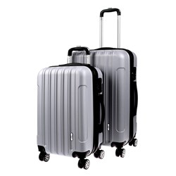 Luggage Set 2 ABS - Expandable 48 / 58cm Silver