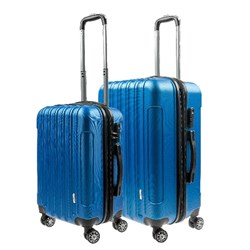Luggage Set 2 ABS - Expandable 48 / 58cm Blue