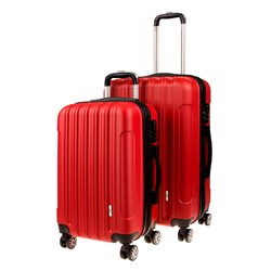 Luggage Set 2 ABS - Expandable 48 / 58cm Red