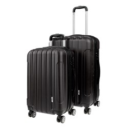 Luggage Set 2 ABS - Expandable 48 / 58cm Black