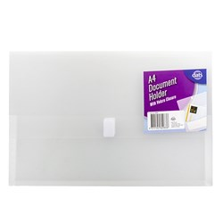 Document Wallet PP w Velcro Closure Clear